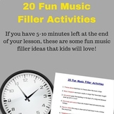20 Fun Music Filler Activities