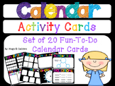 20 Fun-To-Do Calendar Activity Cards for daily practice of