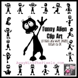 20 Funny Alien Clip Art Images - Commercial Use OK