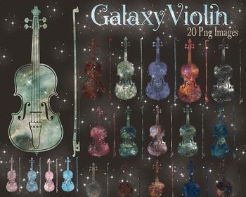 20 Galaxy Violin Clip Arts Music Galaxy Wedding Romantic