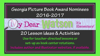 20 Georgia Picture Book Award Nominee Centers - 2016-2017