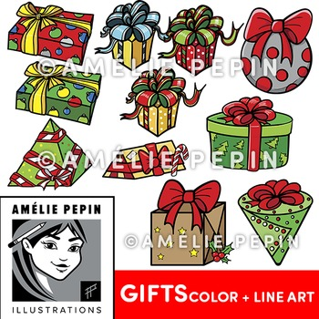 20 Gifts Clip Art