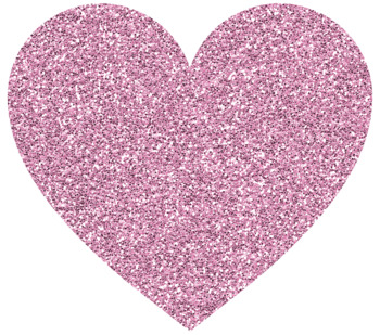20 Glitter Hearts {Clipart}