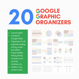 20 Google Slides Graphic Organizers   REMOTE LEARNING