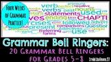 20 Grammar Bell Ringers for Grades 5-8