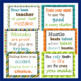 20 Growth Mindset Inspirational Quote Posters -  Green Orange Blue Teal Brown