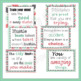 20 Growth Mindset Inspirational Quote Posters in Coral Pink, Mint Green and Gray