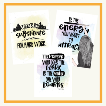 Growth Mindset Posters in Four Different Themes - Classroom Posters-Upper Grades