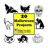 20 Halloween Projects to Print and Make in Black and White