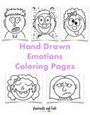 20 Hand-Drawn Emotions Coloring Pages (Social Emotional Learning)
