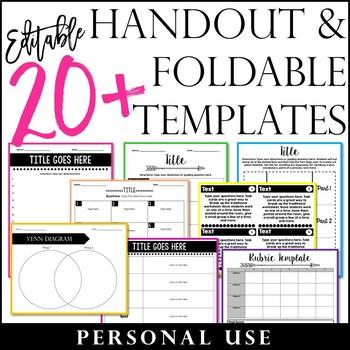 Editable 20+ Handouts and Foldable Templates
