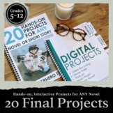 20 Hands-On Projects for ANY Novel!  20 Rubrics Included!