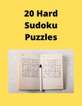20 Hard Sudoku Puzzles