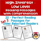 20 High Interest: Low Level Reading & Comprehension Passag