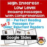 20 High Interest: Low Level Reading Passages - Set 2 Infor