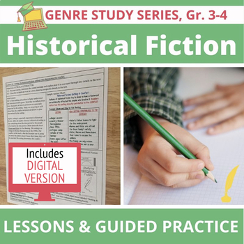 20 Historical Fiction Mini Lessons with Anchor Charts & Guided Practice, Gr. 3-4
