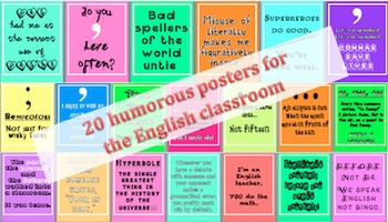 20 Humorous Posters for the English Classroom