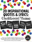 #wildwinterwednesday 20 Inspirational Classroom Posters: Chalkboard Theme