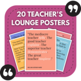 20 Inspiring Teacher's Lounge Posters - Great for Staff Bu