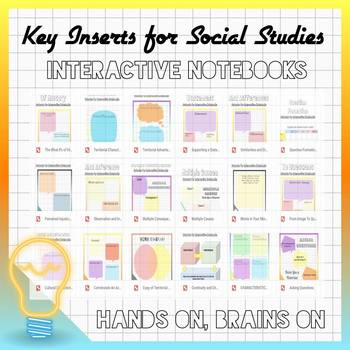 20 Interactive Notebook Cutouts: Evidence Informed Inserts for History Class