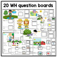 20 Interactive Spring WH Question boards. Autism. File Folders.