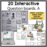 Interactive adapted WH Question activities for File Folders and digital | A