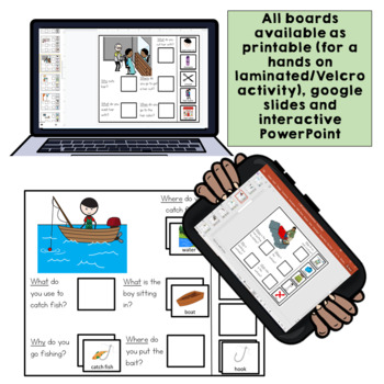 20 Interactive WH Question boards. Autism. File Folders. B.