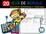 20 JEUX DE BOGGLE - ÉCRIT - FRENCH FSL FLE