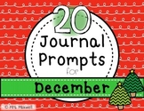 20 Journal Prompts for December {Daily Writing}