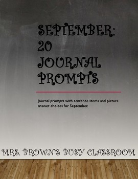 20 Journal Prompts for September