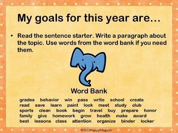 20 All About Me Journal Prompts with Word Banks for Back to School