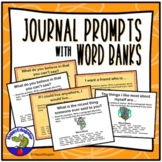 All About Me Journal Prompts with Word Banks for Back to School