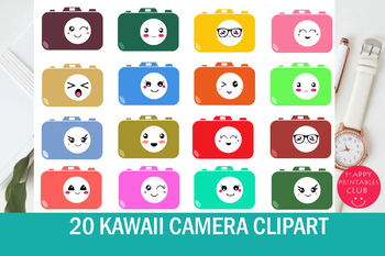 20 Kawaii Camera Clipart