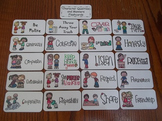 20 Laminated Character Qualities and Manners Flash Cards.  Preschool Flash Cards