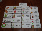 20 Laminated Christmas Flash Cards.  Preschool Picture Word Card