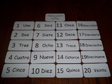 20 Laminated Daycare Numbers 1-20 in Spanish Flash Cards.  Preschool Number Card