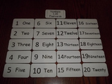 20 Laminated Daycare Numbers 1-20 Flash Cards.  Preschool Number Cards.