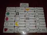 20 Laminated Daycare Shapes Flash Cards.  Preschool Picture Word Cards.