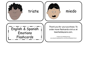 20 Laminated Emotions Flash Cards.  Preschool Picture Word Cards.