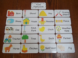 20 Laminated Farm Flash Cards.  Preschool Picture Word Cards.