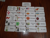 20 Laminated Holidays Flash Cards.  Preschool Picture Word  Cards.