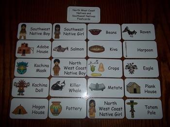 20 Laminated North West Coast and Southwest Natives themed