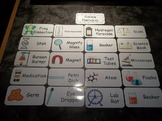 20 Laminated Science Items Flash Cards.  Preschool Picture Word Cards.