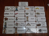 20 Laminated Westward Expansion Flash Cards.  Preschool Picture Word Card