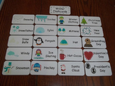 20 Laminated Winter Flash Cards.  Preschool Picture Word Cards.