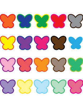 20 Large Butterfly Clip Art