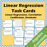 20 Linear Regression Task Cards - Including Correlation Co