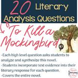 To Kill a Mockingbird - 20 Literary Analysis Questions!