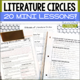 20 Literature Circle Lessons and Student Note-Taking Pages