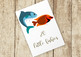 20 Little Fishies Clip Art Set, High Resolution, Separate PNG Files